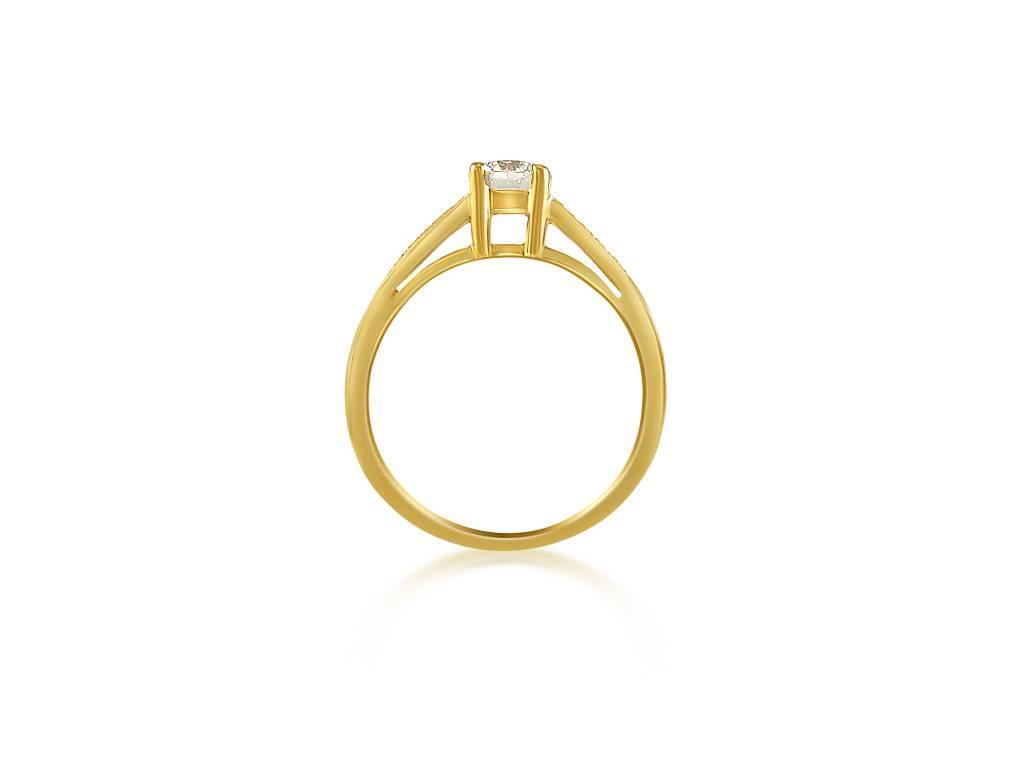 HRD 18 karaat geel goud verlovingsring met 0.56 ct +0.08 ct diamanten