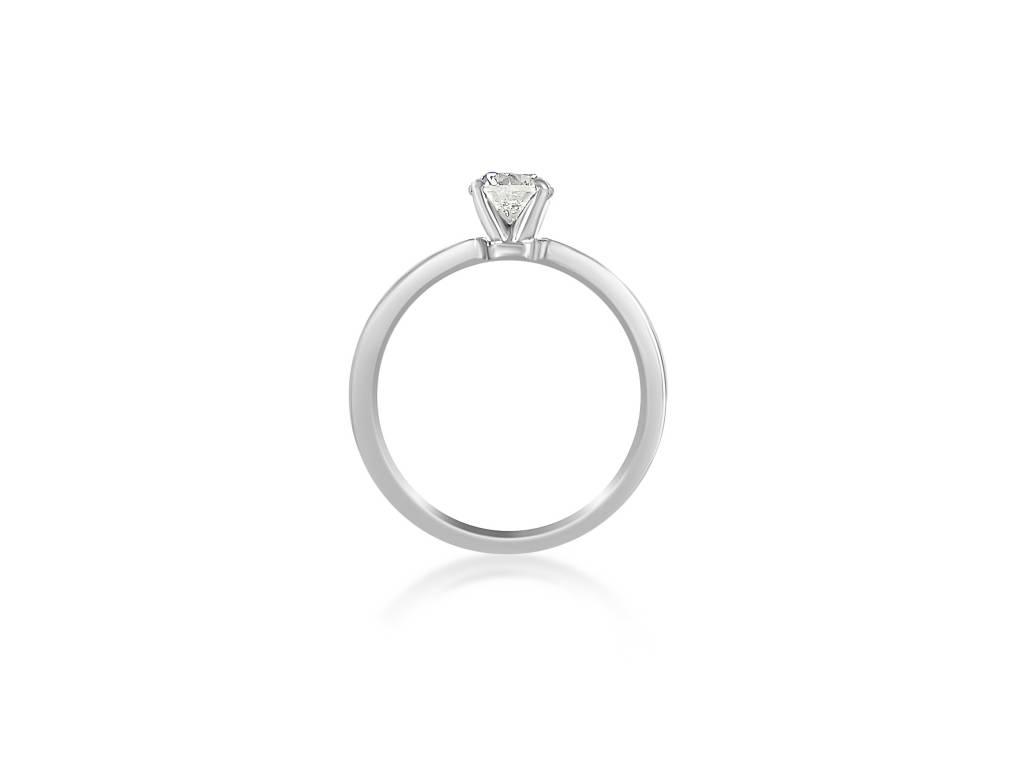 18 karaat wit goud verlovingsring met 0.70 ct +0.54 ct diamanten