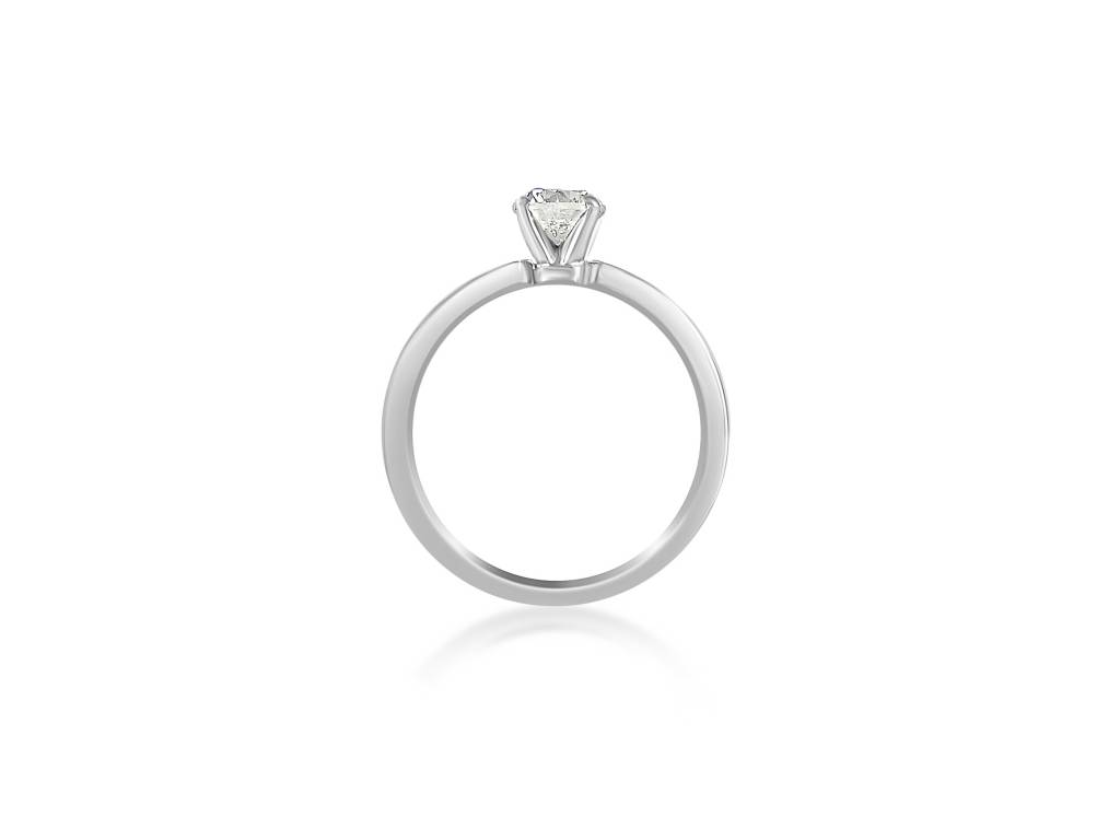 18 karat white gold engagement ring with 0.70 ct + 0.54 ct diamonds