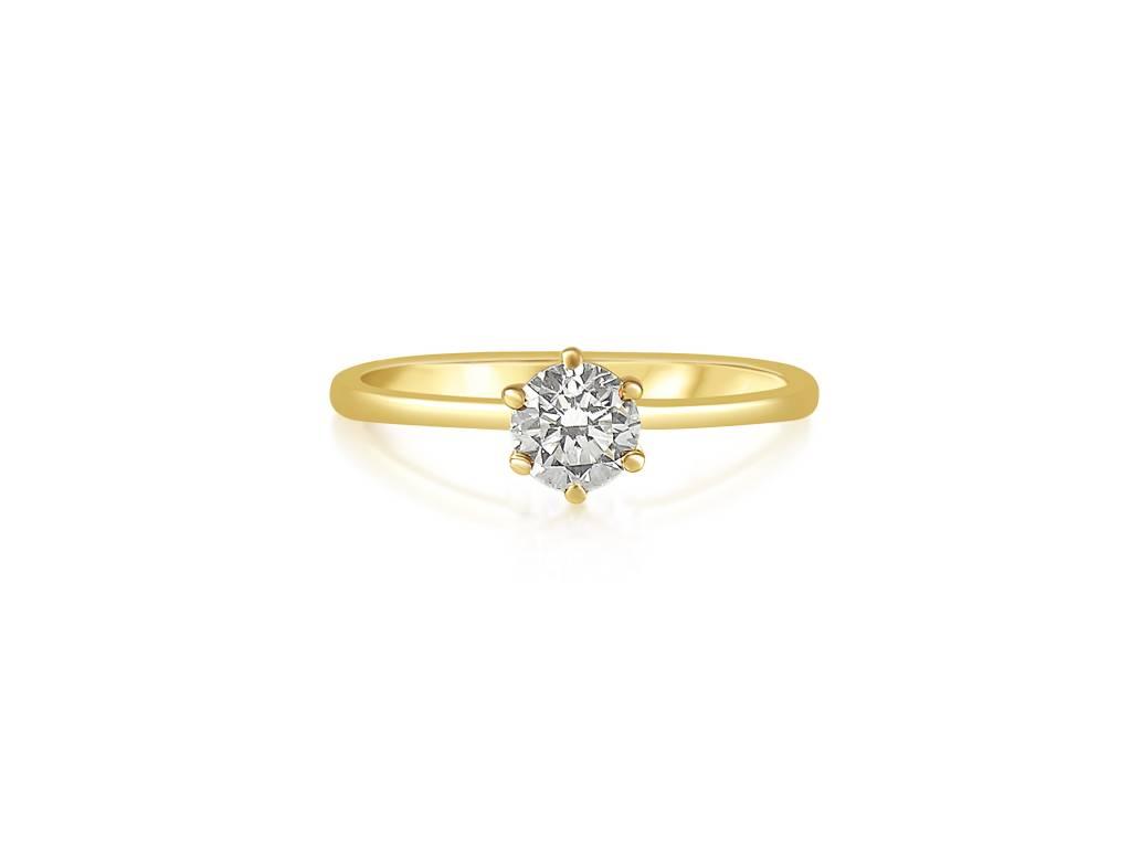 HRD 14 karaat wit goud verlovingsring met 0.55 ct diamant