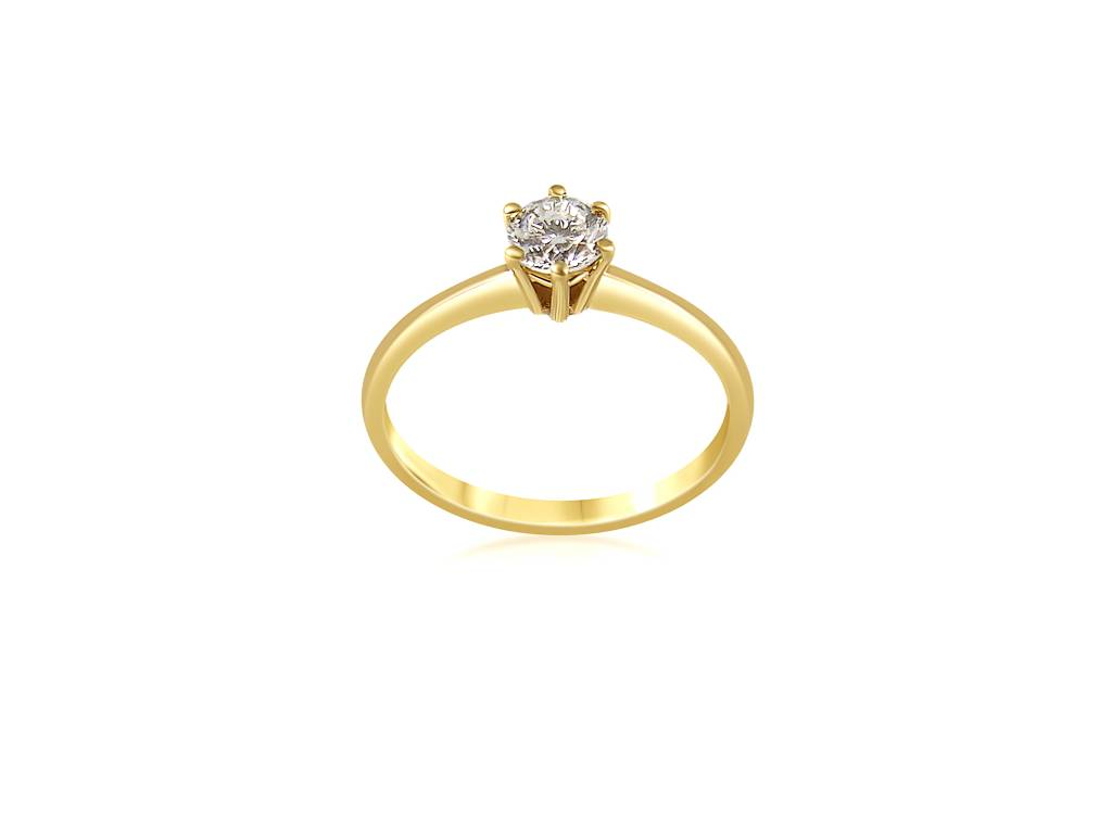 14kt yellow gold engagement ring with 0.55 ct diamond