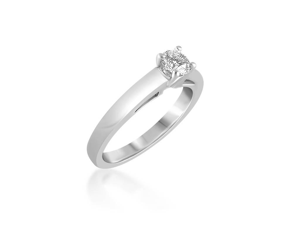 18 karaat wit goud verlovingsring met 0.43 ct diamant