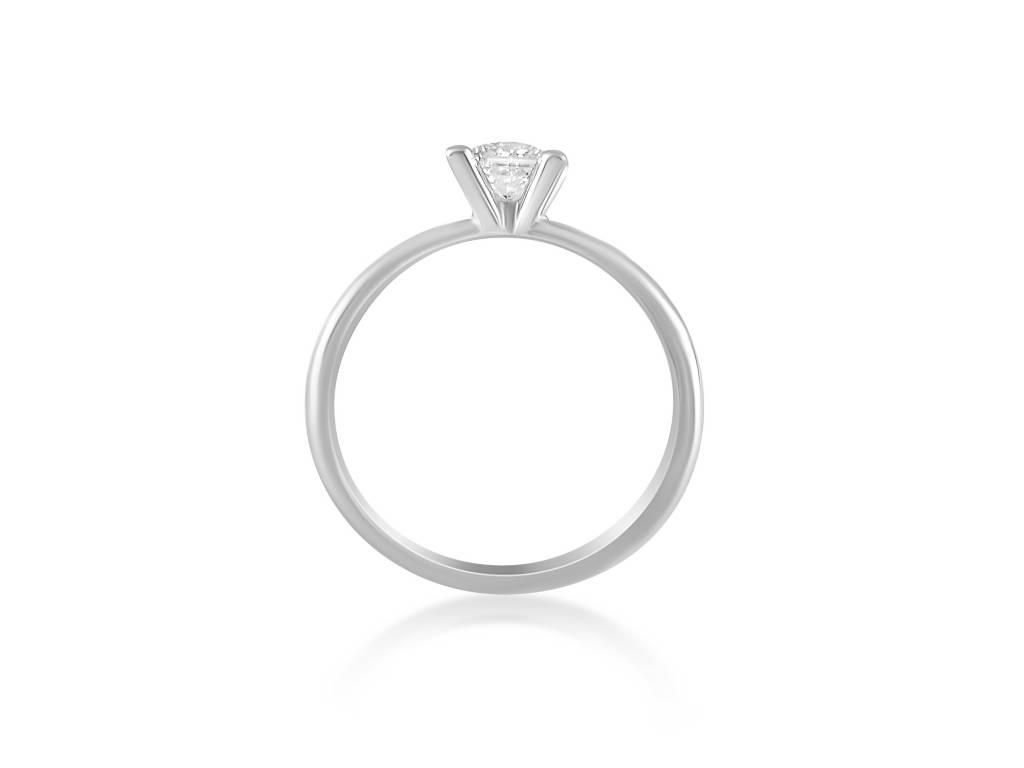 18 karat white gold engagement ring with 0.50 ct diamond