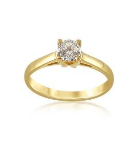 18 karat yellow gold engagement ring with 0.50 ct diamond