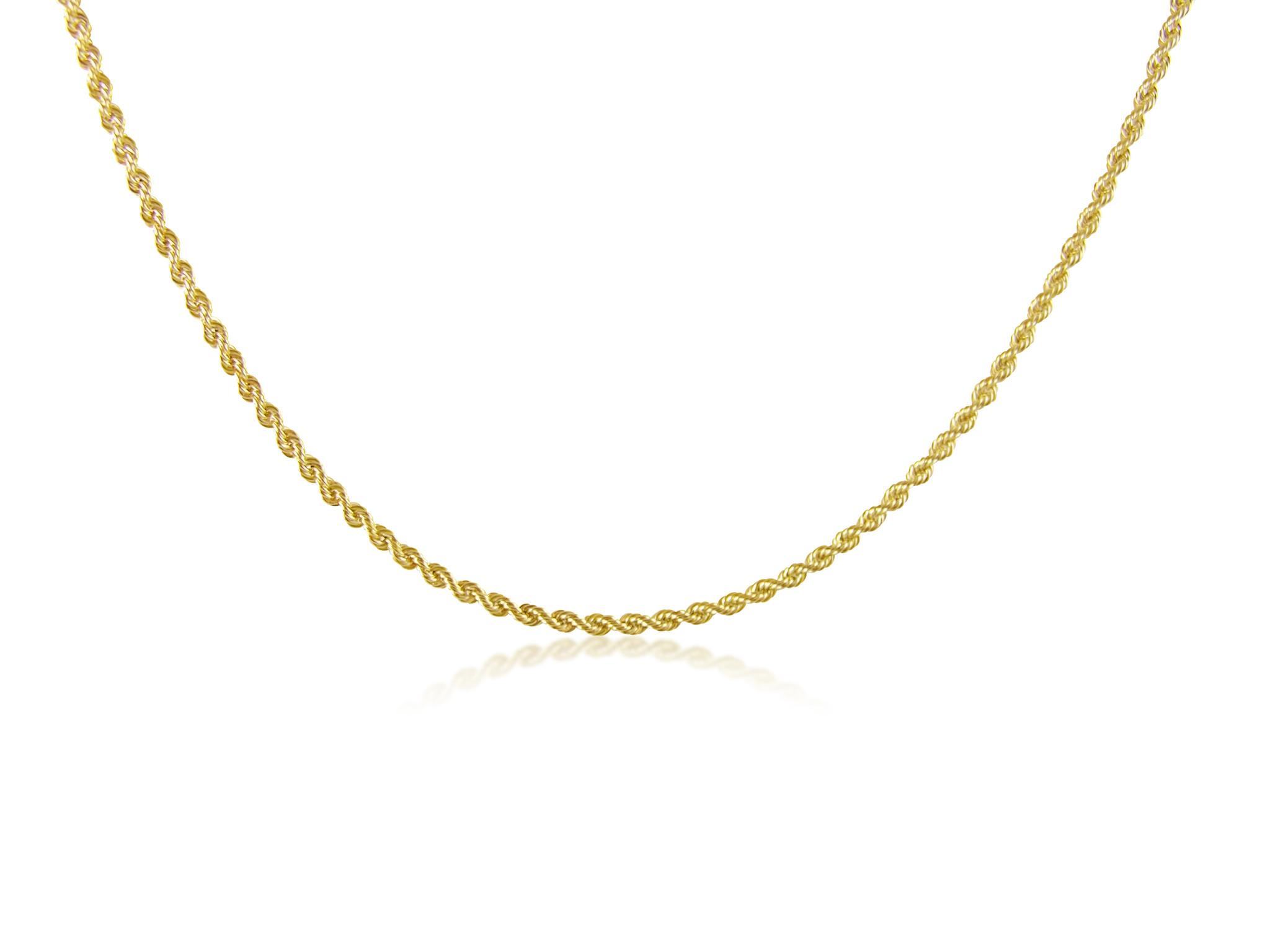 18 karat yellow gold rope chain
