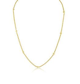 18 karat yellow gold rope chain with balls