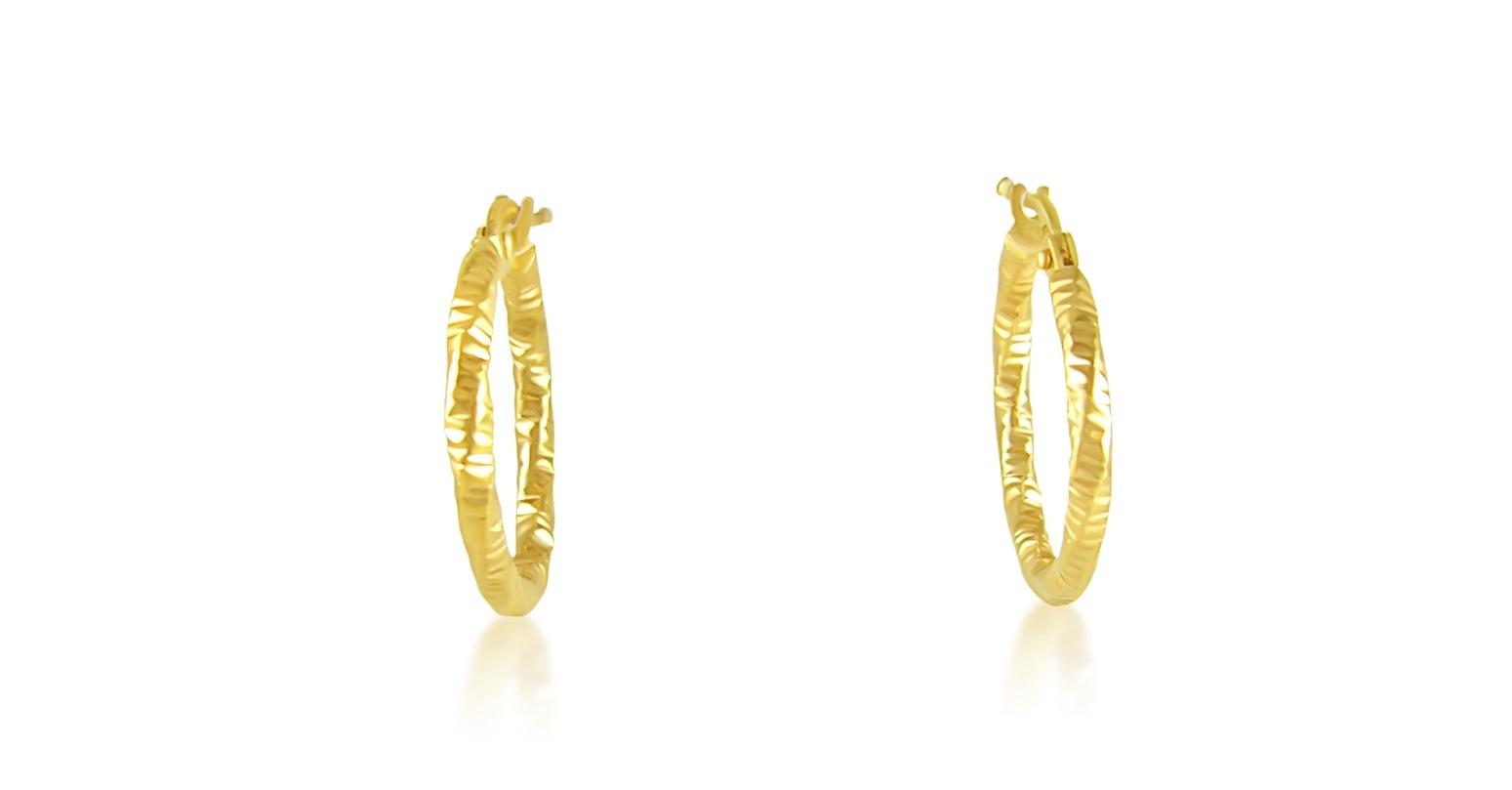 18 karat yellow gold hoops earrings