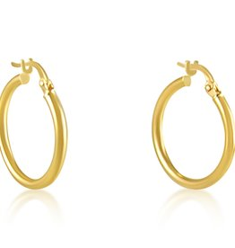 18 karat yellow gold hoops earrings