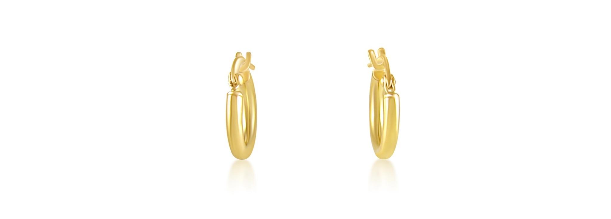 18 karaat geel goud creolen oorbellen