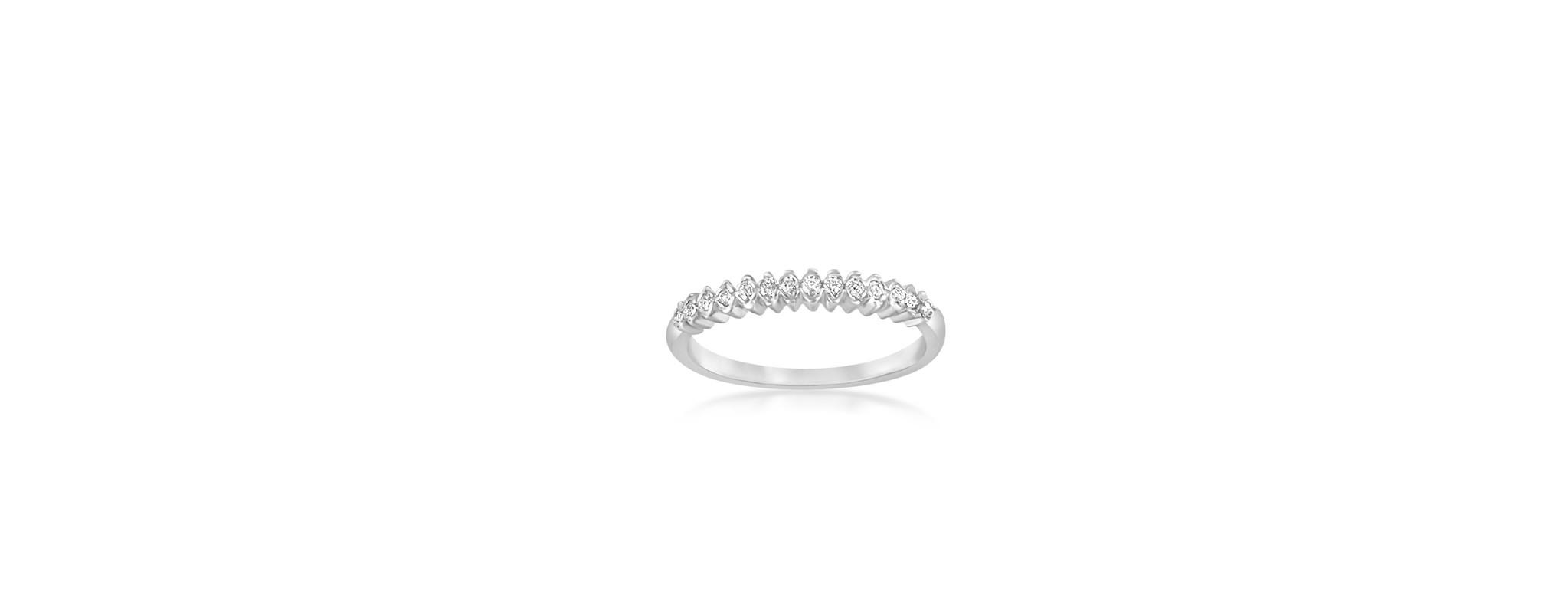 18 karaat wit goud ring met zirkonia
