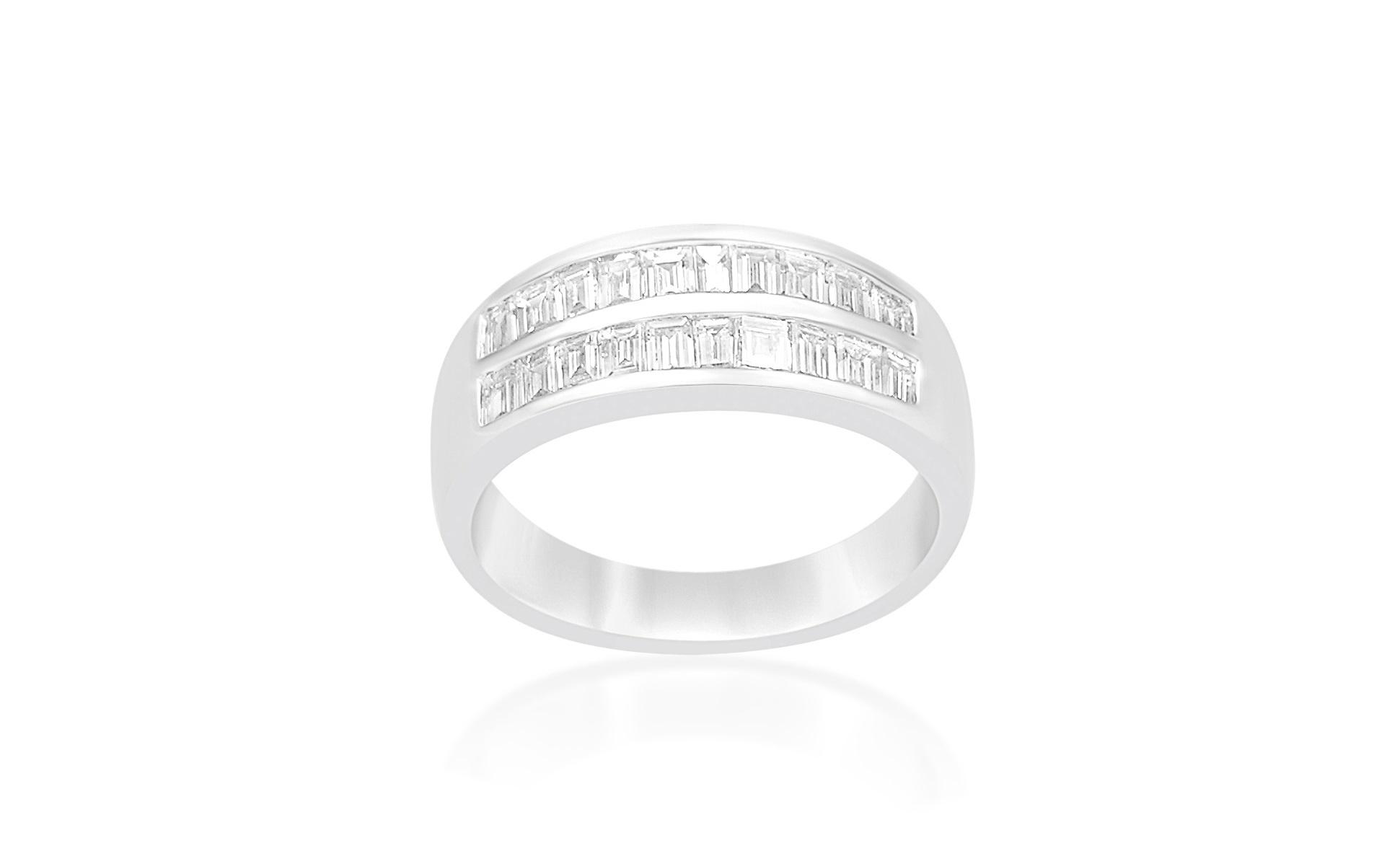 18 karaat wit goud ring met 0.52 CT diamanten