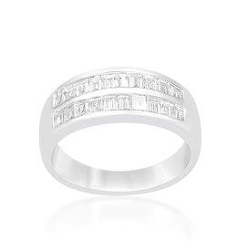 18kt wit goud ring met 0.52 CT diamanten