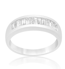 18 karaat wit goud ring met 0.56 CT diamanten