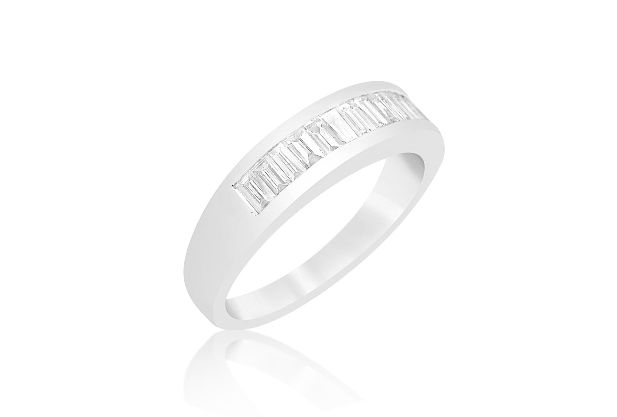 18 karaat wit goud ring met 0.56 CT diamanten