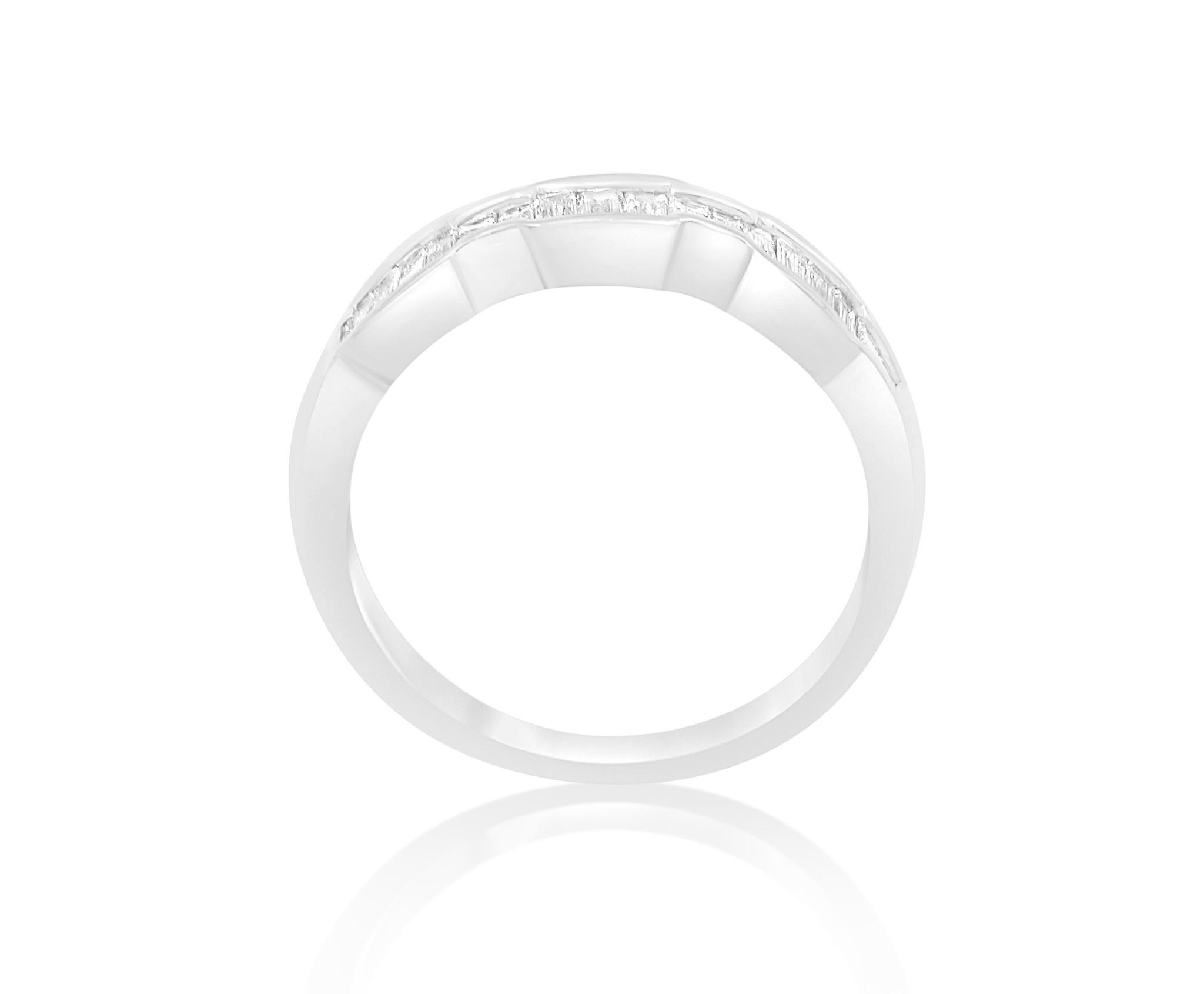 18 karaat wit goud ring met 0.60 CT diamanten