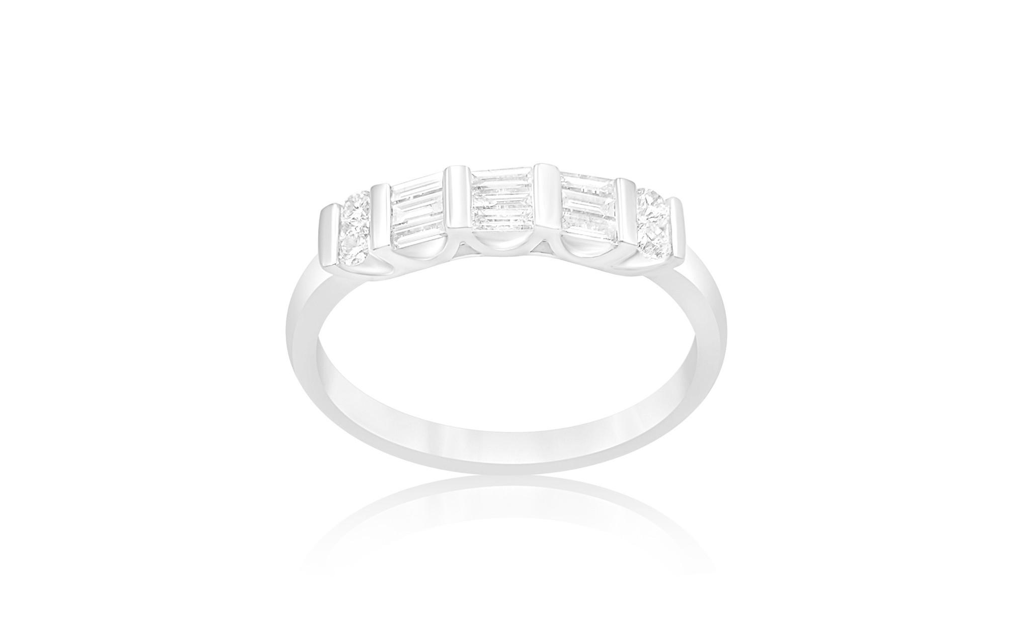 18 karaat wit goud ring met 0.40 CT diamanten