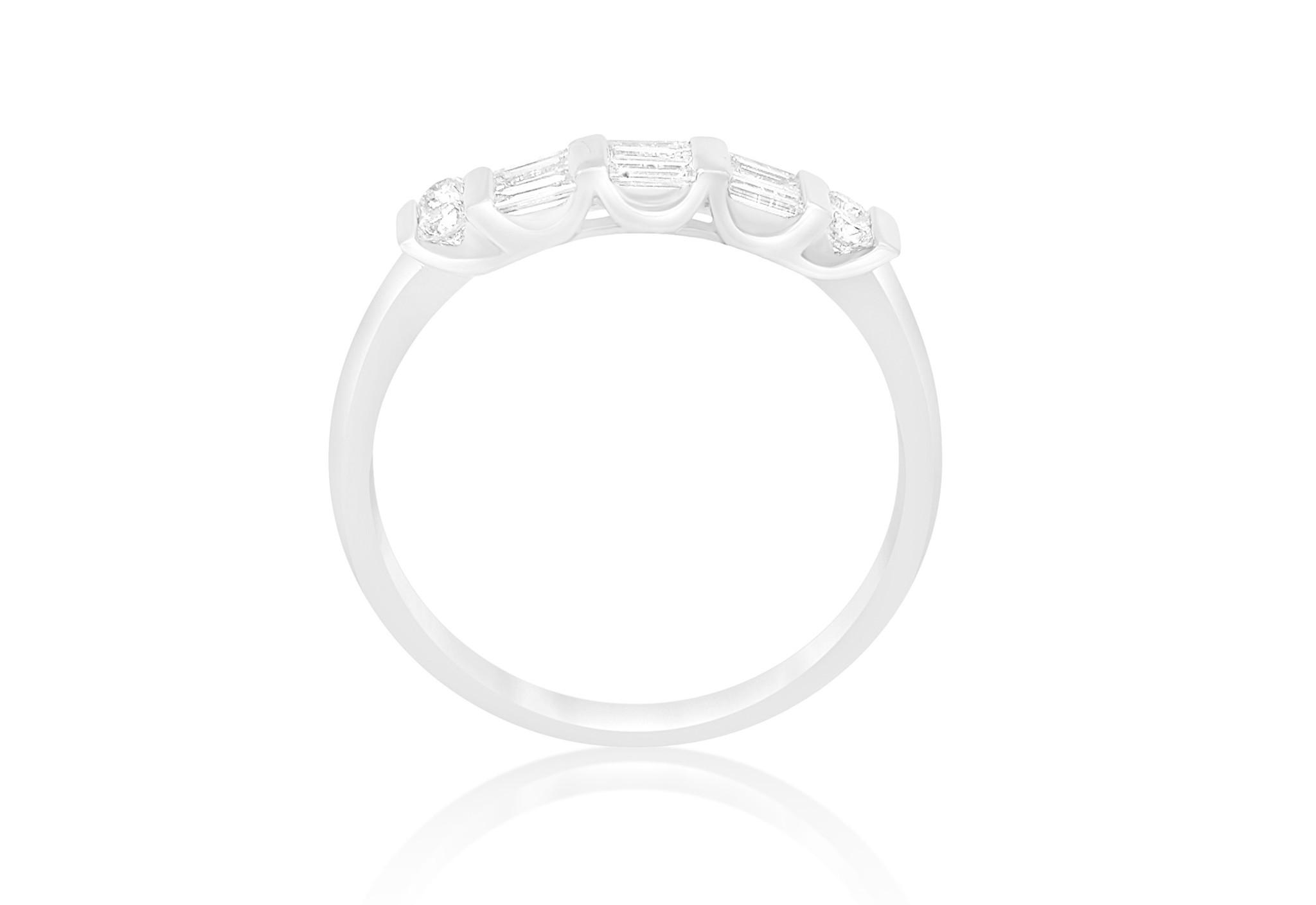 18kt wit goud ring met 0.40 CT diamanten