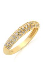 18 karat yellow gold ring with zirconia