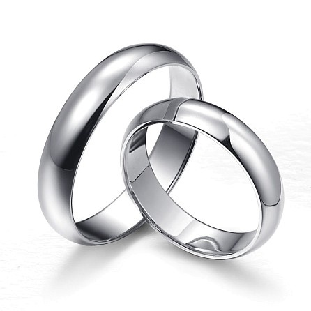 Classic silver wedding rings