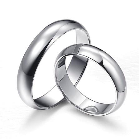 Kalssiek zilver trouwringen