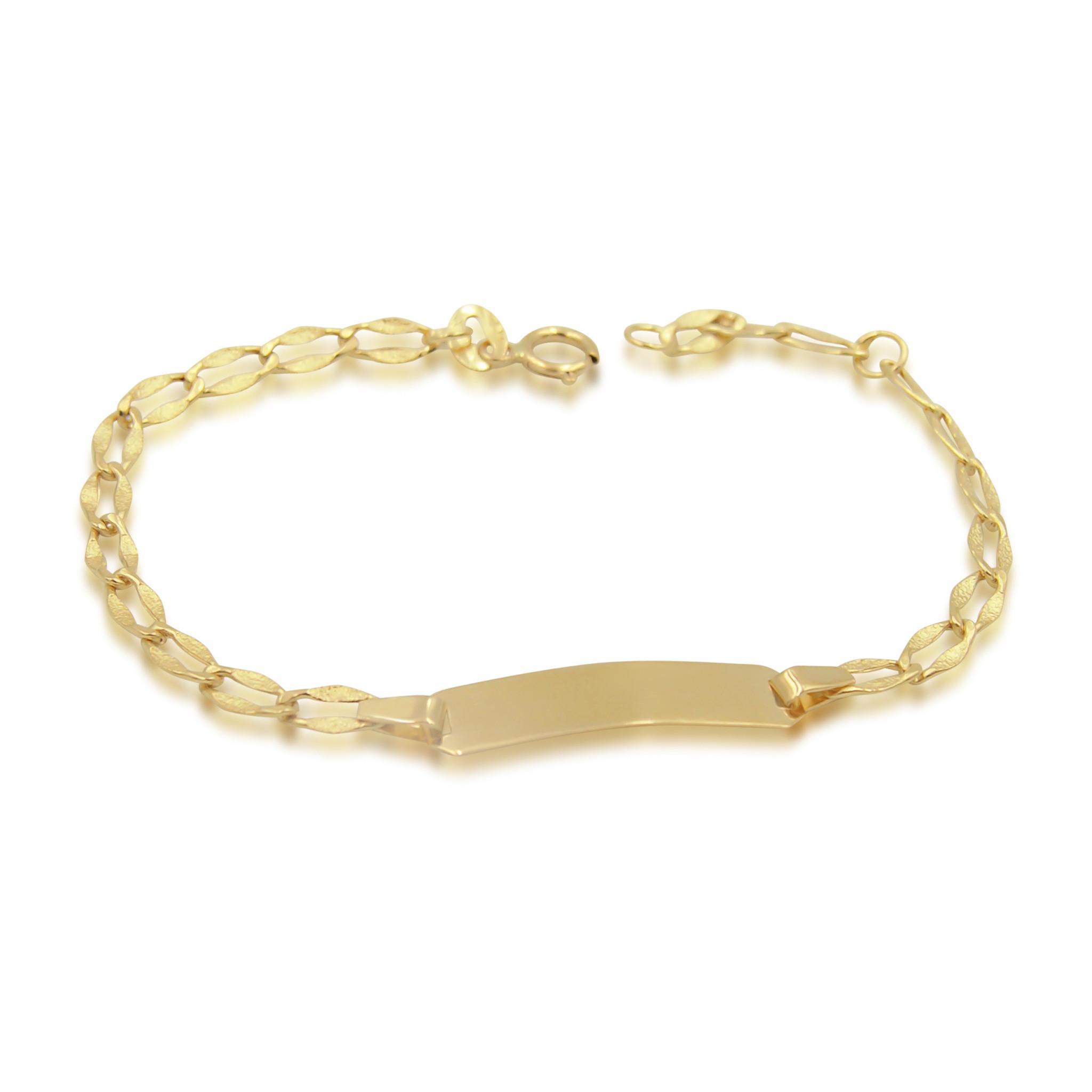 18 karat yellow gold baby bracelet