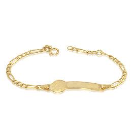 18 karaat geel goud baby armband