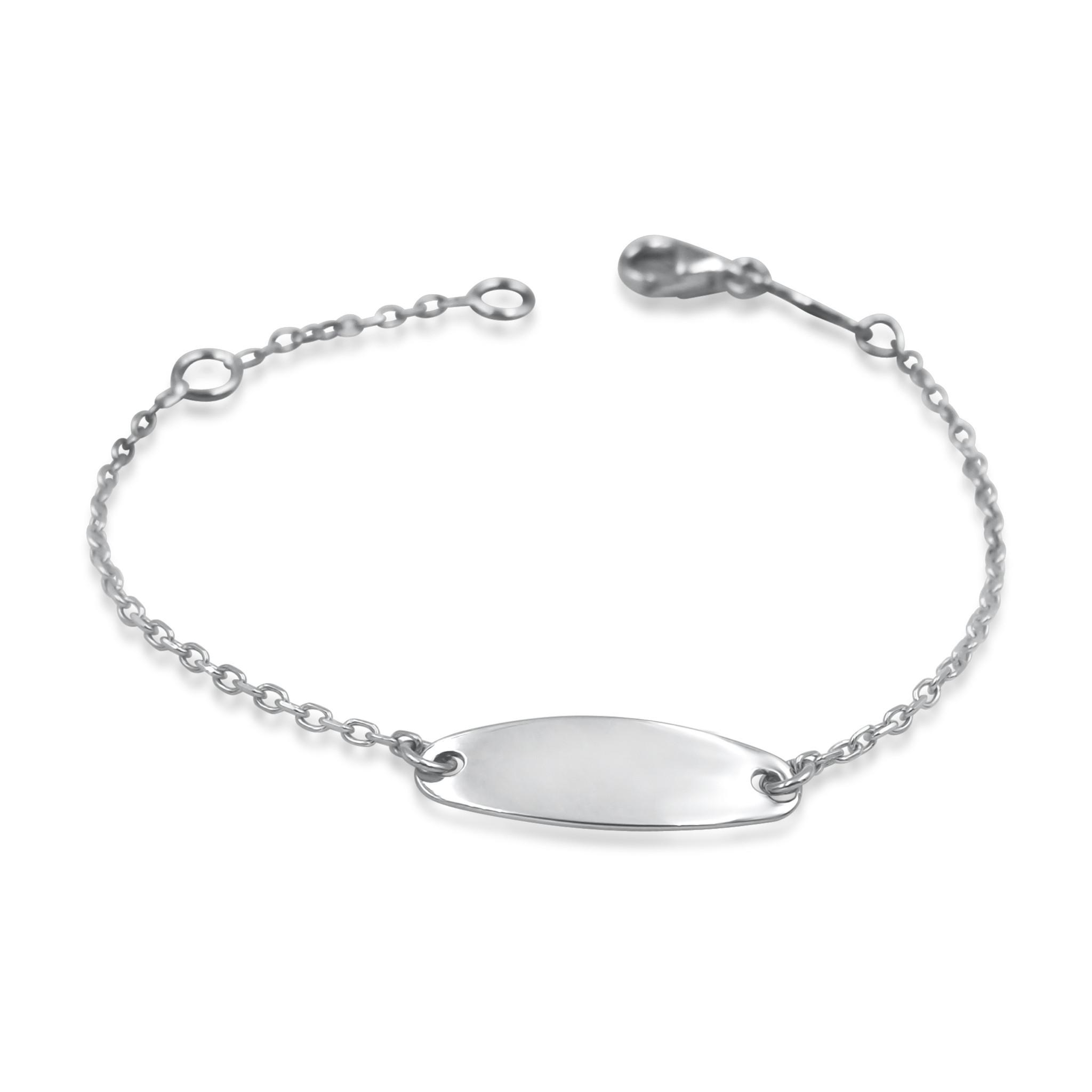 18 karat white gold baby bracelet
