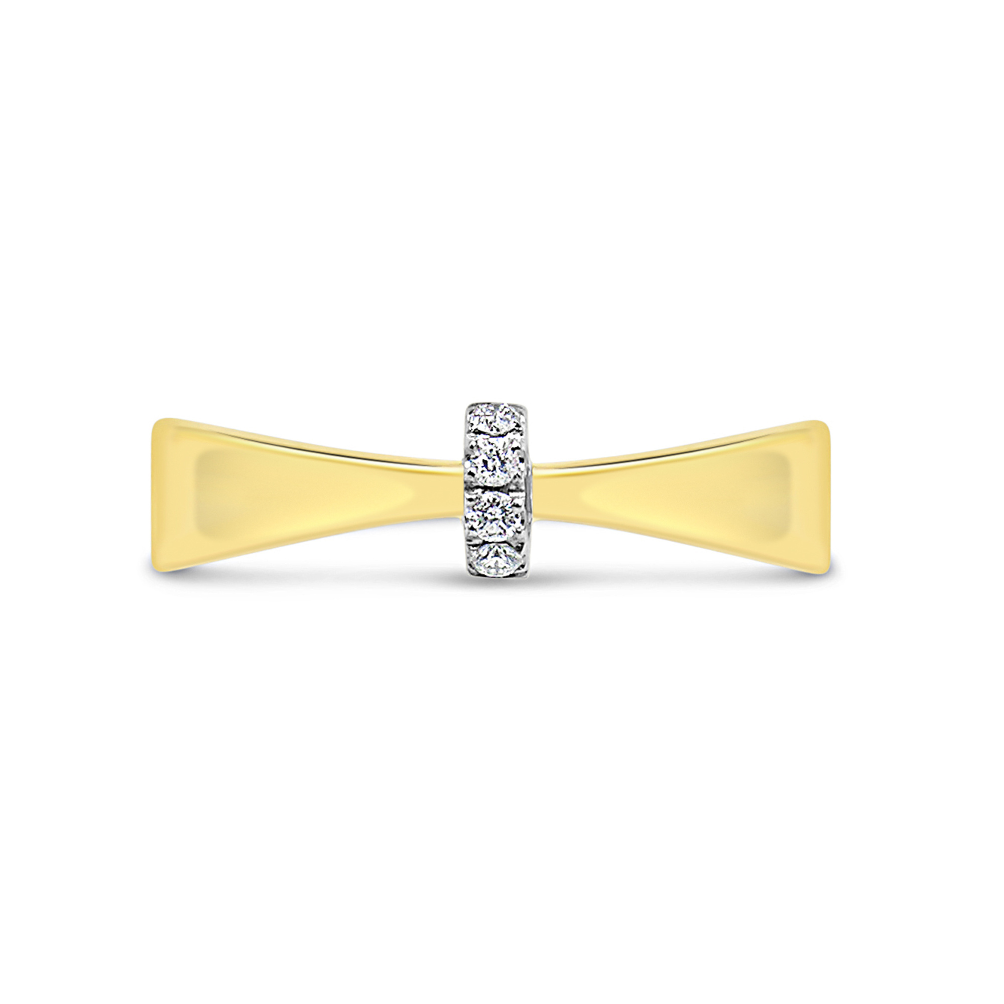 18kt yellow gold ring with 0.04 ct diamonds