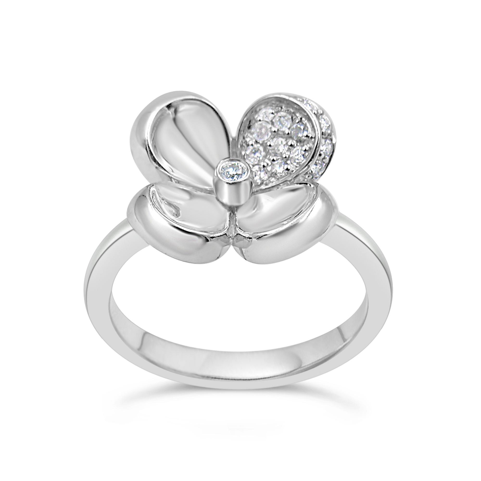 18kt geel goud ring met 0.15 ct diamanten
