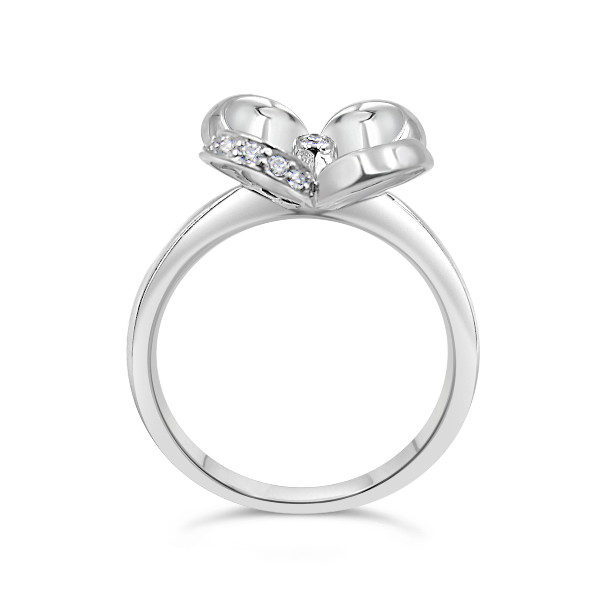 18 karaat geel goud ring met 0.15 ct diamanten