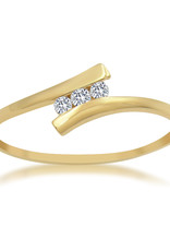 18kt yellow gold engagement ring with 0.06 ct diamond