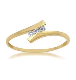 18kt geel goud verlovingsring met 0.06 ct diamant