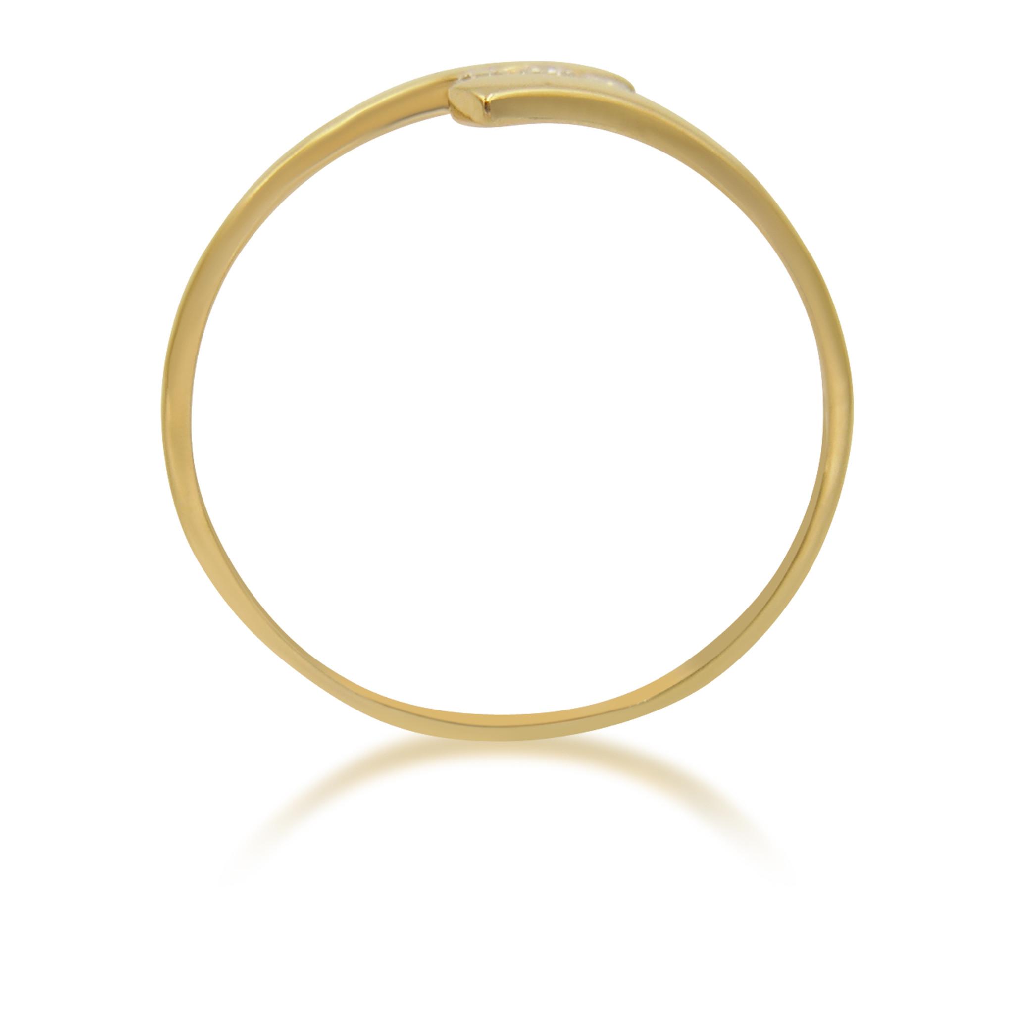 18 karaat geel goud verlovingsring met 0.06 ct diamant
