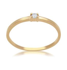 18 karaat rose goud verlovingsring met 0.02 ct diamant