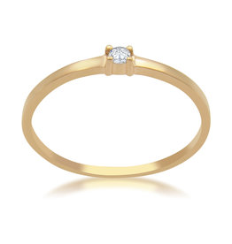 18kt  rose gold engagement ring with 0.02 ct diamond