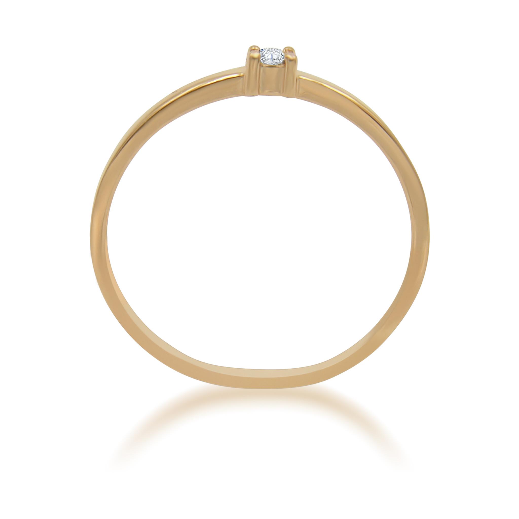 18kt  rose goud verlovingsring met 0.02 ct diamant