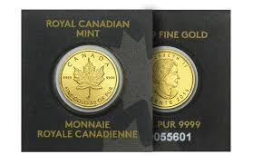 24 karaat goud royal canadian munt fijn goud
