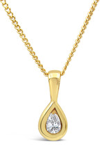 18kt yellow gold pendant with 0.10 ct diamond