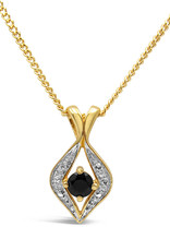 18 karat yellow & white gold pendant with 0.20 ct sapphire