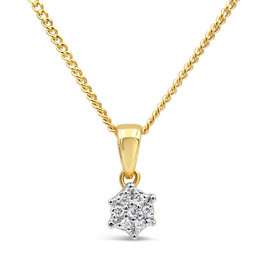 18kt yellow & white gold pendant with 0.05 ct diamonds