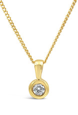 18 karat yellow gold pendant with zirconia