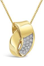 14 karat yellow & white gold pendant with 0.15 ct diamonds