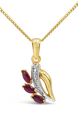 18 karat yellow gold pendant with 0.15 ct ruby