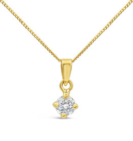 18 karaat geel goud hanger met 0.40 ct diamant