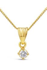 18 karaat geel goud hanger met 0.08 ct diamant