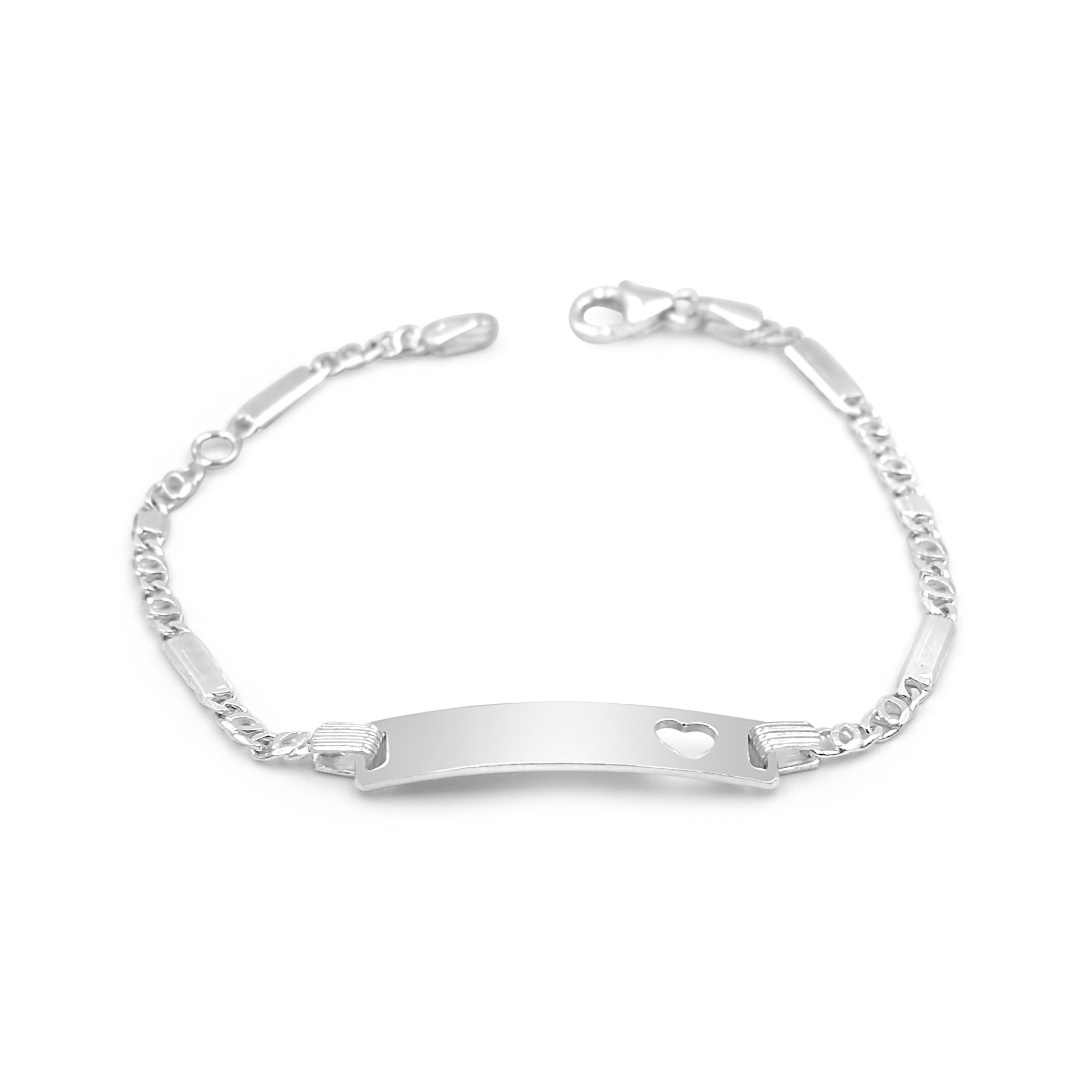 Zilver baby armband