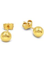 18 karaat geel goud oorbellen bol met glanzend afwerking