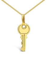 18 karaat geel goud sleutel hanger