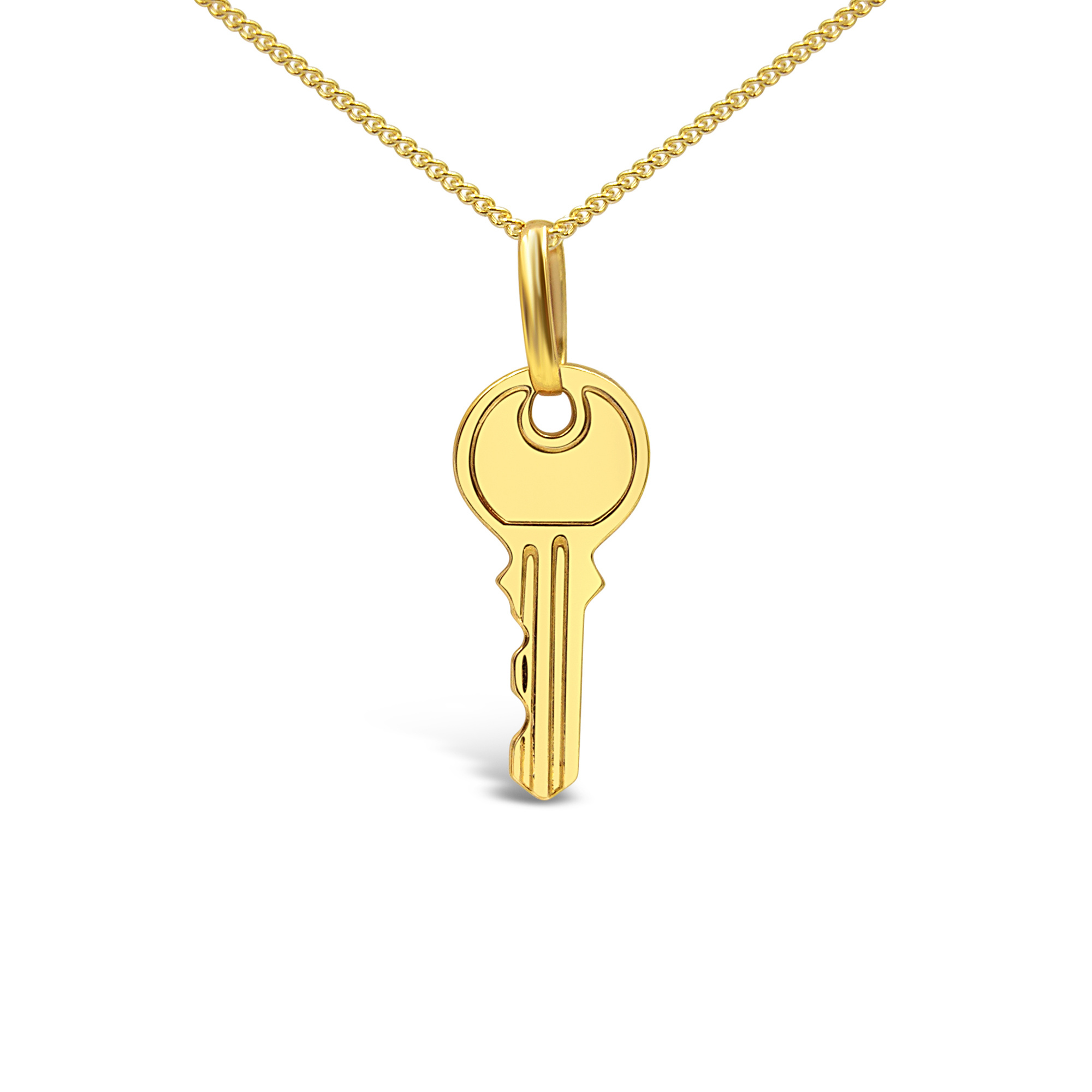 18 karat yellow gold key pendant