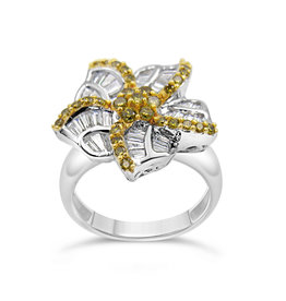 18k wit goud ring met 1.50 ct diamanten